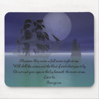 Phantom Ship under a full moon. Mouse Pad