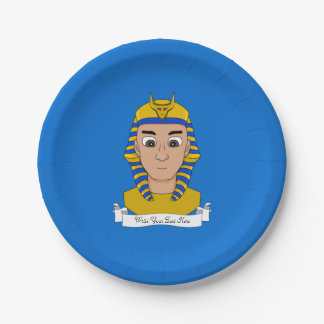 Pharaoh cartoon paper plate