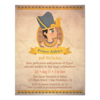 Pharaoh Egyptian Themed Kids Birthday Party Card