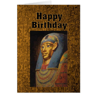 Pharaoh Happy Birthday Card