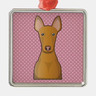 Pharaoh Hound Cartoon Metal Ornament