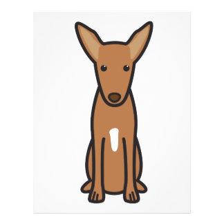 Pharaoh Hound Dog Cartoon 21.5 Cm X 28 Cm Flyer