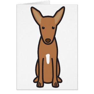 Pharaoh Hound Dog Cartoon Card