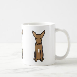 Pharaoh Hound Dog Cartoon Coffee Mug