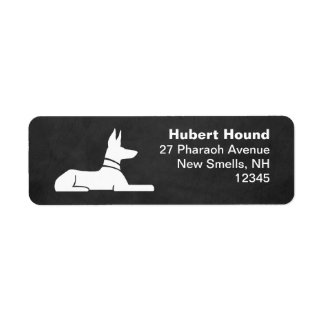 Pharaoh Hound Return Address Label