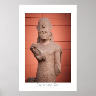 Pharaoh statue at Egyptian museum, Cairo, Egypt Poster
