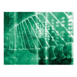 Pharmaceutical Research Data As a Science Art Postcard