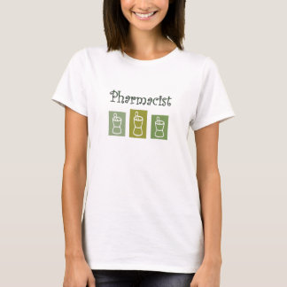 pharmacist 3 green pestle and mortars t-shirt