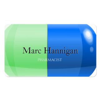 PHARMACIST - blue green pill pharmacy Business Cards