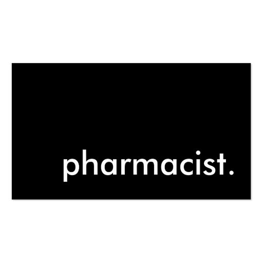 pharmacist. business cards