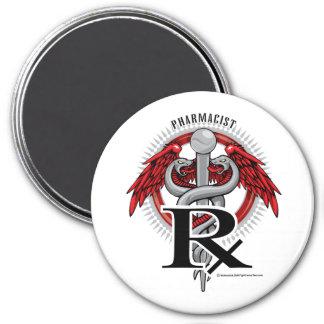 Pharmacist Caduceus 7.5 Cm Round Magnet