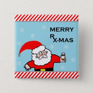 pharmacist Christmas 15 Cm Square Badge