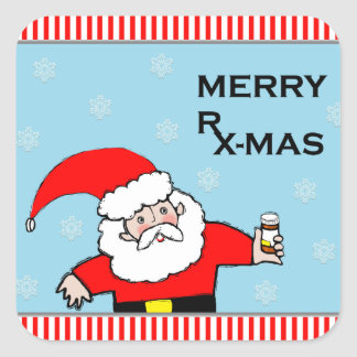 pharmacist Christmas holiday gift ideas Square Sticker