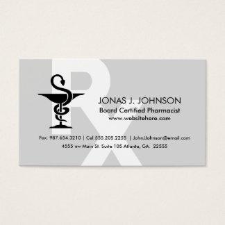 Pharmacist Custom Name Bowl of Hygenia Symbol Business Card