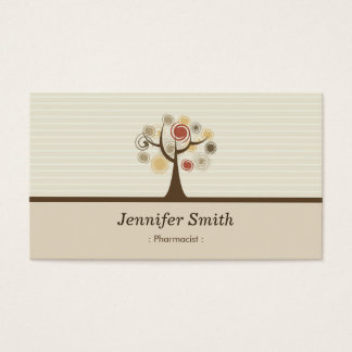 Pharmacist - Elegant Natural Theme Business Card
