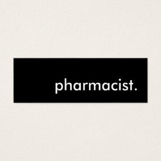pharmacist. mini business card