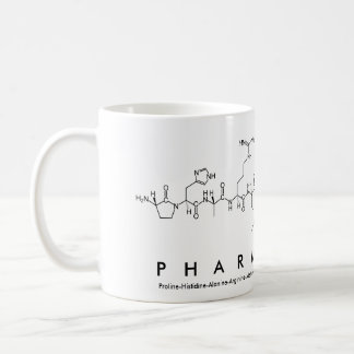 Pharmacist peptide word mug