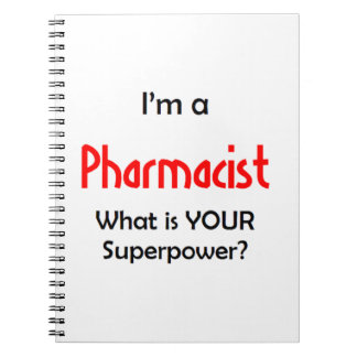 pharmacist spiral notebook