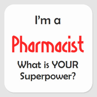 pharmacist square sticker