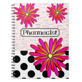 Pharmacist Whimsical Flowers Notebook