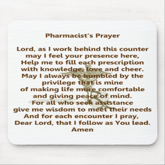 Pharmacist's Prayer Mousepad