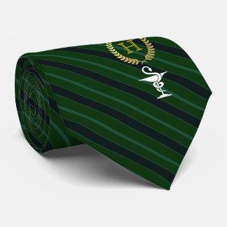Pharmacology Professional Framed Monogram Green Tie