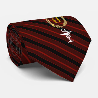 Pharmacology Professional Framed Monogram Red Tie