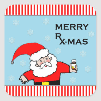 pharmacy Christmas holiday stickers