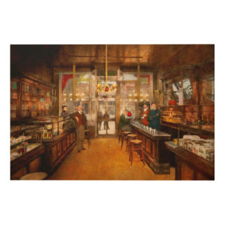 Pharmacy - Congdon's Pharmacy 1910 Wood Wall Decor