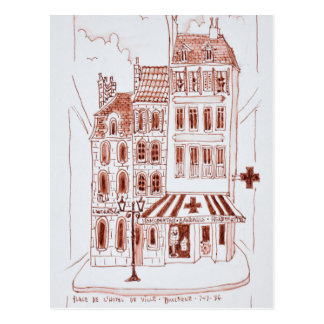Pharmacy in Old Town | Boulogne-Sur-Mer, France Postcard