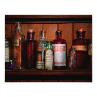 Pharmacy - Oils and Inhalants 11 Cm X 14 Cm Invitation Card