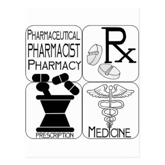 Pharmacy Pharmacist LOGO Postcard