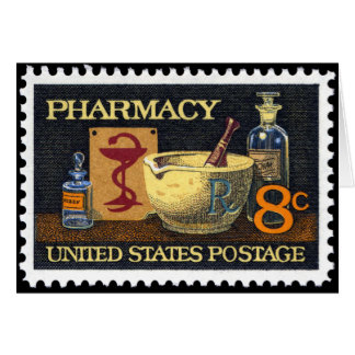 Pharmacy Rx Stamp~Pharmacist ~Druggist~Apothecary Card
