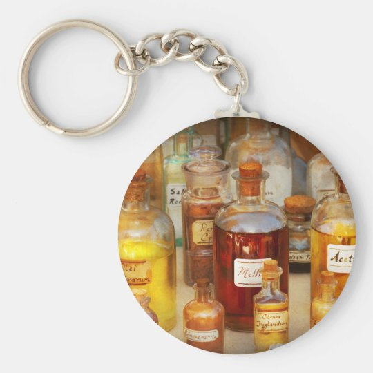 Pharmacy - Serums and Elixirs Basic Round Button Key Ring