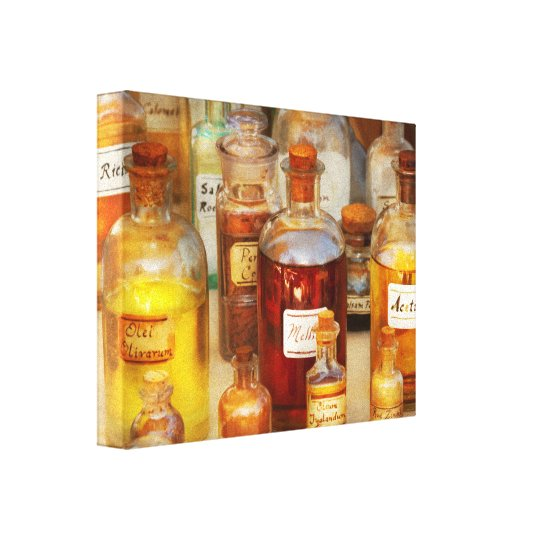 Pharmacy - Serums and Elixirs Canvas Print