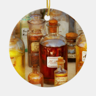 Pharmacy - Serums and Elixirs Round Ceramic Decoration