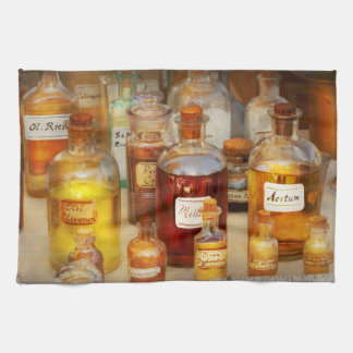 Pharmacy - Serums and Elixirs Tea Towel