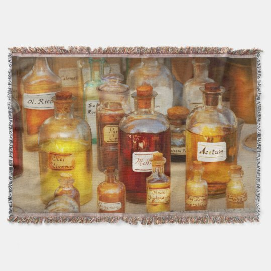 Pharmacy - Serums and Elixirs Throw Blanket