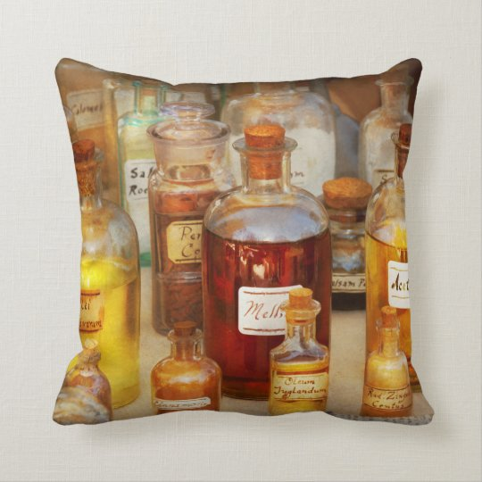Pharmacy - Serums and Elixirs Throw Pillow