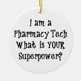 pharmacy tech ceramic ornament