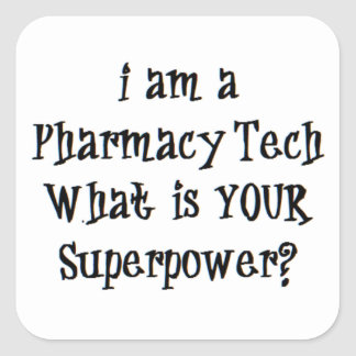 pharmacy tech square sticker