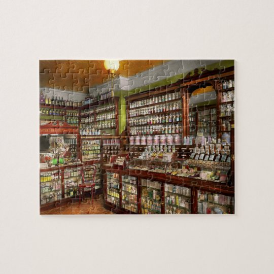 Pharmacy - The chemist shop of Mr Jones 1907 Jigsaw Puzzle
