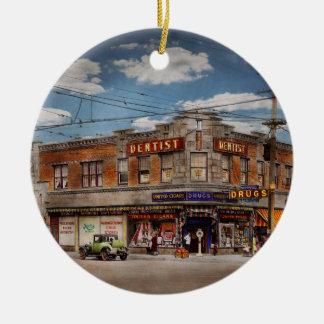 Pharmacy - The corner drugstore 1910 Ceramic Ornament