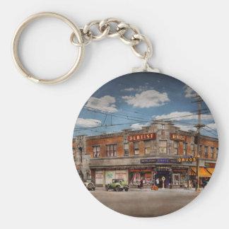 Pharmacy - The corner drugstore 1910 Key Ring