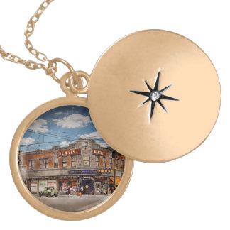 Pharmacy - The corner drugstore 1910 Locket Necklace