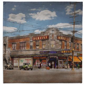 Pharmacy - The corner drugstore 1910 Napkin