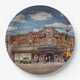 Pharmacy - The corner drugstore 1910 Paper Plate