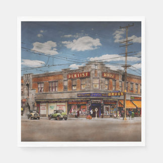 Pharmacy - The corner drugstore 1910 Paper Serviettes