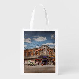 Pharmacy - The corner drugstore 1910 Reusable Grocery Bag