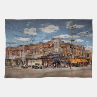 Pharmacy - The corner drugstore 1910 Tea Towel